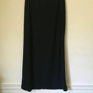 Paul Harris Design Skirts - Paul Harris Long Black SMALL SKIRT with slit.